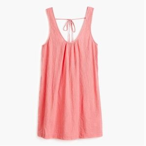 J. Crew Tie-back crinkle cotton tank dress
